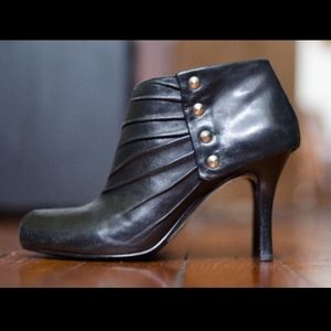NINE WEST Size 10 Ankle Boot Bootie Black Leather